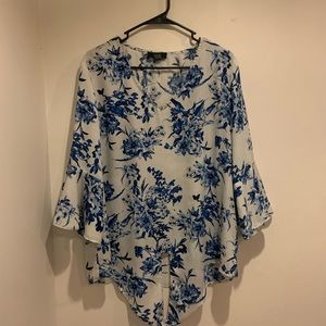 AGB Floral Print Blouse